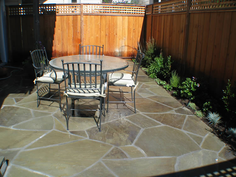 Private Patio, Orinda. Before. After