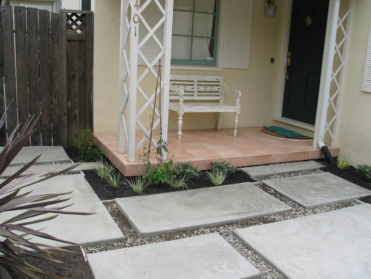 Modern Concrete Patio, Oakmore, Oakland. Before. Before