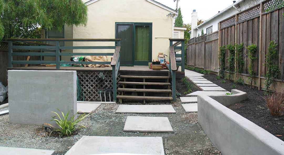 modern concrete patio. Modern Concrete Patio, Oakmore, Oakland. Before Patio